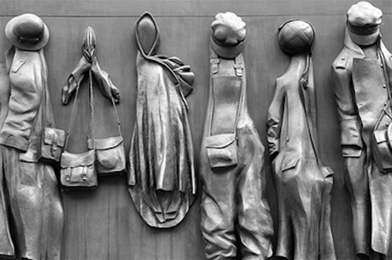 WW2 memorial empty clothing